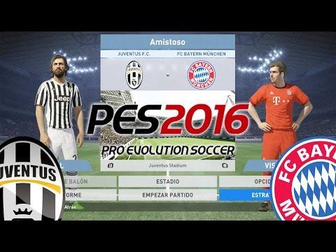 PES 2016 Gameplay: JUVENTUS vs BAYERN MUNICH (Nivel Legendario)