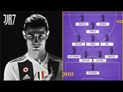 JUVENTUS Potential Lineup  2018-19 With Cristiano ronaldo , Dybala Perfect !!