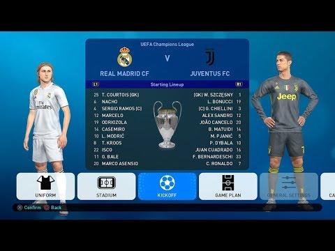 PES 2019 UEFA Champions League Final Real Madrid v Juventus Full Match
