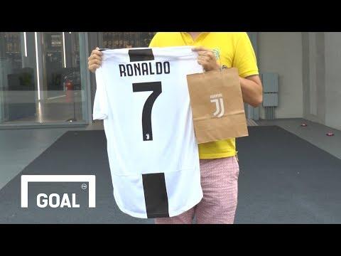 The first EVER Cristiano Ronaldo Juventus shirt