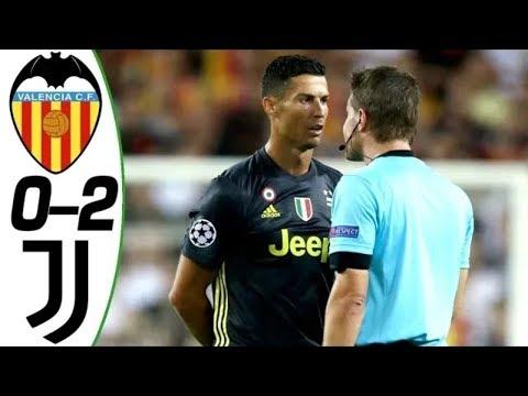 Juventus 2-0 Valencia Özeti 09/19/2018 | Ronaldo Kırmızı Kart Aldı