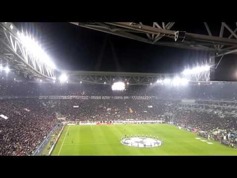 Juventus player's intro vs bayren Munich. Champions 2016
