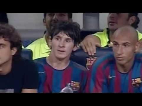 Messi contra la Juventus en su primer Gamper (2005)
