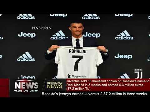 Ronaldo's jerseys earned Juventus £ 37.2 million in three weeks.