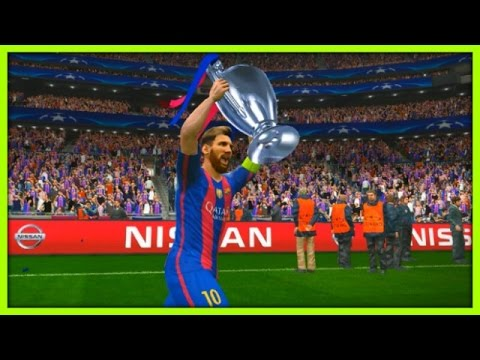 PES 2017 – UEFA Champions League Final – BARCELONA VS JUVENTUS Gameplay PC