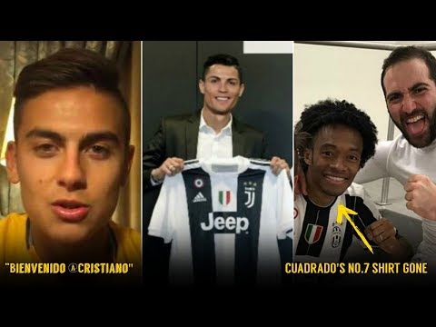 Reaction of Juventus Players on Cristiano Ronaldo Transfer | ft. Dybala, Cuadrado, Higuain