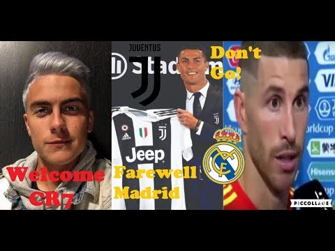 Players Reaction To Cristiano Ronaldo Move To Juventus For €105 Million From Real Madrid
