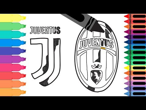 How to Draw Juventus FC Badge – Drawing the Juventus Logo – Coloring Pages for kids | Tanimated Toys