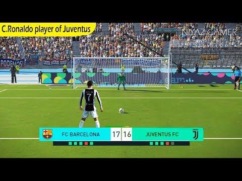 FC Barcelona vs Juventus   C.Ronaldo player of JUVENTUS   Penalty Shootout   PES 2018