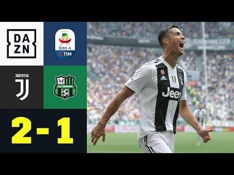 Cristiano Ronaldo mit Doppelpack, Douglas Costa flippt aus: Juventus – Sassuolo 2:1 | Highlights