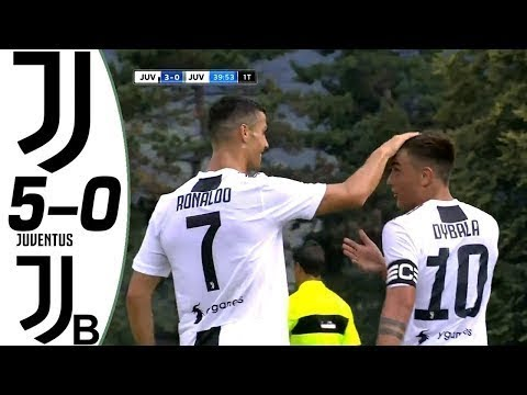 Juventus vs Juventus U21 5-0 – All Goals & Highlights – Cristiano Ronaldo DEBUT 12/08/2018 HD