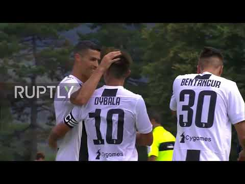 Italy: Cristiano Ronaldo scores first goal for Juventus in friendly