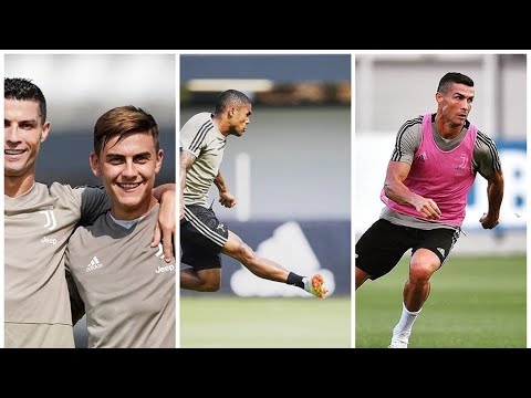 Dybyla and Juventus players training for game vs Sassuolo 2018