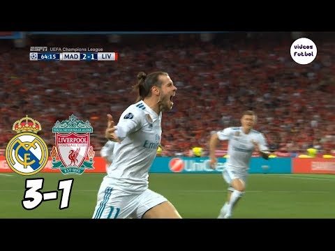 Real Madrid vs Liverpool 3-1 Resumen Completo Final 2018