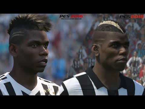 PES 2016 vs PES 2015 – Juventus player faces – Incredible graphic HD