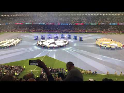 Final UEFA champions league 2017 Juventus vs Real Madrid – Anthem