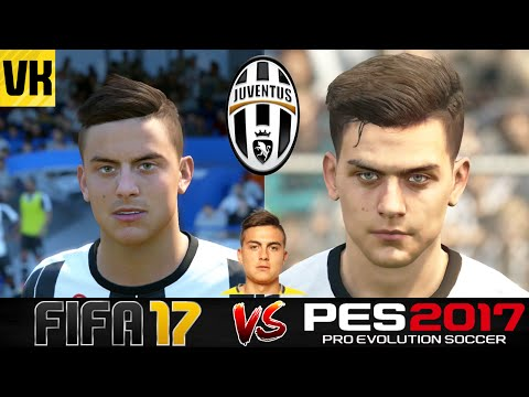 FIFA 17 VS PES 2017 VS REAL LIFE JUVENTUS PLAYER FACES COMPARISON (Dybala, Higuain etc)
