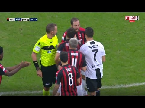 Cristiano Ronaldo Vs Higuain (Full Video) ⚽ Espulso \ Red Card \ Expulsion ⚽ HD #Juventus #Milan
