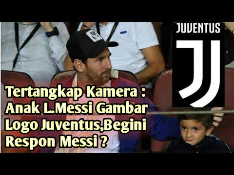 Anak L.Messi Gambar Logo Juventus,Begini Respon Messi ?