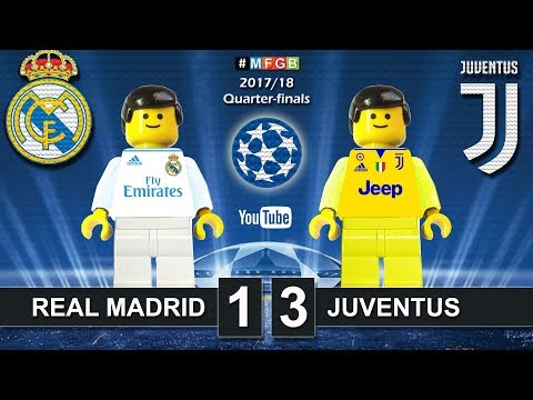 Real Madrid vs Juventus 1-3 • Champions League 2018 (11/04) Real Juve Goals Highlights Lego Football