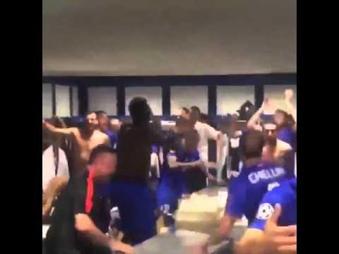 Juventus players celebrating after winning real madrid 2015