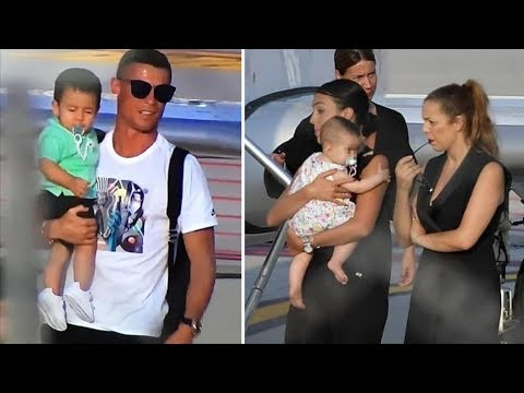 Cristiano Ronaldo with family arrives in Turin for first training with Juventus