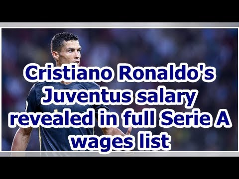 Cristiano Ronaldo's Juventus salary revealed in full Serie A wages list
