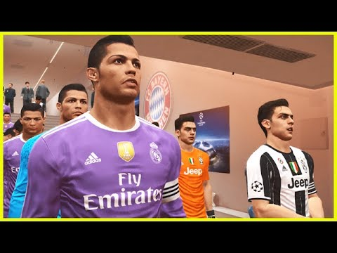 PES 2017 – TEAM DYBALA (Juventus) vs TEAM RONALDO (Real Madrid) UEFA Champions League
