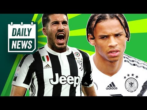 TRANSFERS + BREAKING WORLD CUP NEWS: Emre Can signs for Juventus + Sané is dropped from Germany!