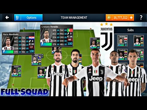 Dream League  Soccer 18 Juventus Mod Full Squad Kits । Ronaldo In Juventus । DLS 18 Mod Juventus