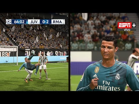 Recreación Juventus 0-3 Real Madrid – UEFA Champions League 2018