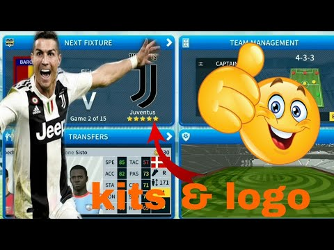 How To Create Juventus Team 2019 Kits & Logo | Dream League Soccer 2019