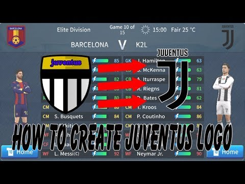 Create Juventus Logo 😍 Kits & Logo 😍 Dream League Soccer 2019 #1