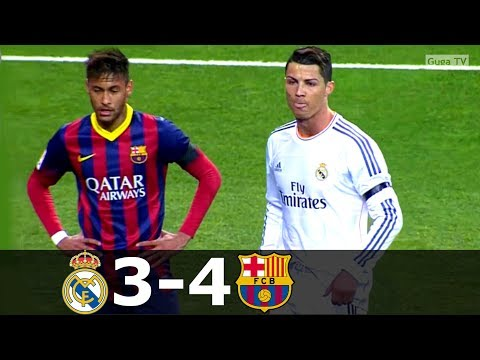 Real Madrid vs Barcelona 3-4 – La Liga 2013/2014 – Highlights (English Commentary) HD