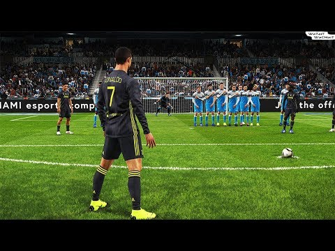 PES 2019 | Lazio vs Juventus | C.Ronaldo 2 Free Kick Goal | Full Match | Gameplay PS4