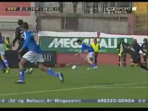 Brescia – Juventus 3 – 1 Serie B 2006/2007 tripletta di Matteo Serafini
