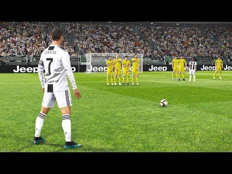 PES 2019 | JUVENTUS VS CHIEVO | Ronaldo and Dybala Free Kick Goals | Gameplay PC