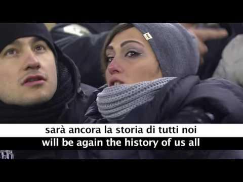 staduim singing juve Di Un Grande Amore with Lyrics and Translation HD720P