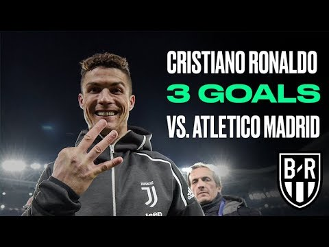 Cristiano Ronaldo Hat-Trick for Juventus vs. Atletico Madrid in 2018/19 Champions League Last 16