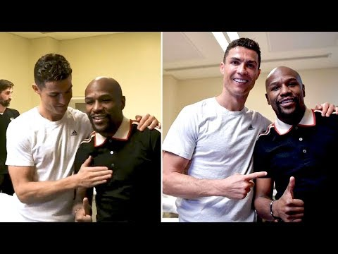Floyd Mayweather Meets Cristiano Ronaldo after the SuperCoppa also the Juventus Team