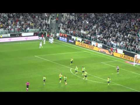 JUVENTUS Vs Chievo Goal Quagliarella 1-0