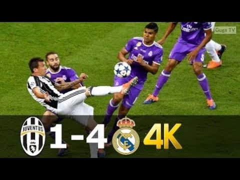 Juventus vs Real Madrid 1-4 – UHD 4k UCL Final 2017 – Full Highlights (English Commentary) |❤