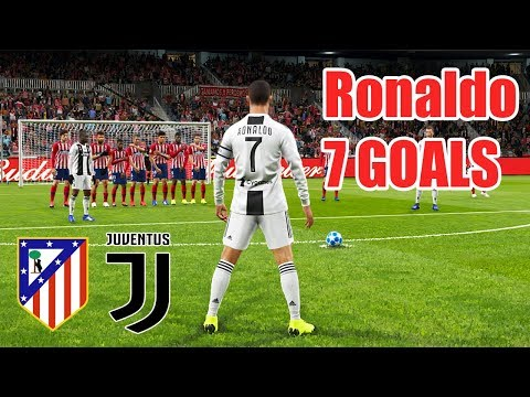 PES 2019 | ATLETICO MADRID VS JUVENTUS | Ronaldo Scored 7 Goals In A Match | Champions League