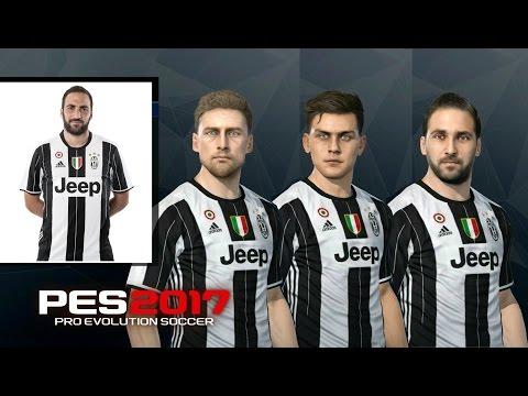 PES 2017 | Juventus Faces | PS4