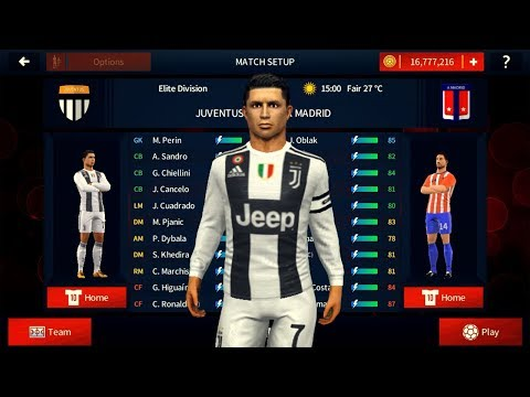 Juventus v AT Madrid 💗 RONALDO HAT-TRICK 💗 Dream League Soccer 2018 HD Gameplay