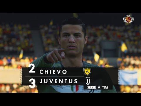 CHIEVO 2 x 3 JUVENTUS NO FIFA 18 – SERIE A TIM