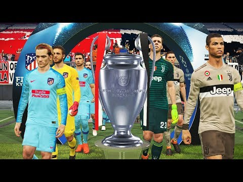 UEFA Champions League Final 2018/2019 ( JUVENTUS vs ATLETICO MADRID ) PES 2018 Gamelay PC