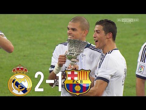 Real Madrid vs Barcelona 2-1 HD 1080i All Goals & Highlights (29/08/2012)
