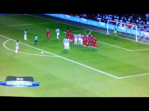 Andrea Pirlo Amazing Free Kick ( Juventus v Bayern ) 10/04/2013 HQ