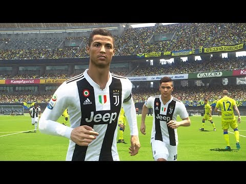 PES 2018 | CHIEVO VS JUVENTUS | Ronaldo First Goal For Juventus | Gameplay PC